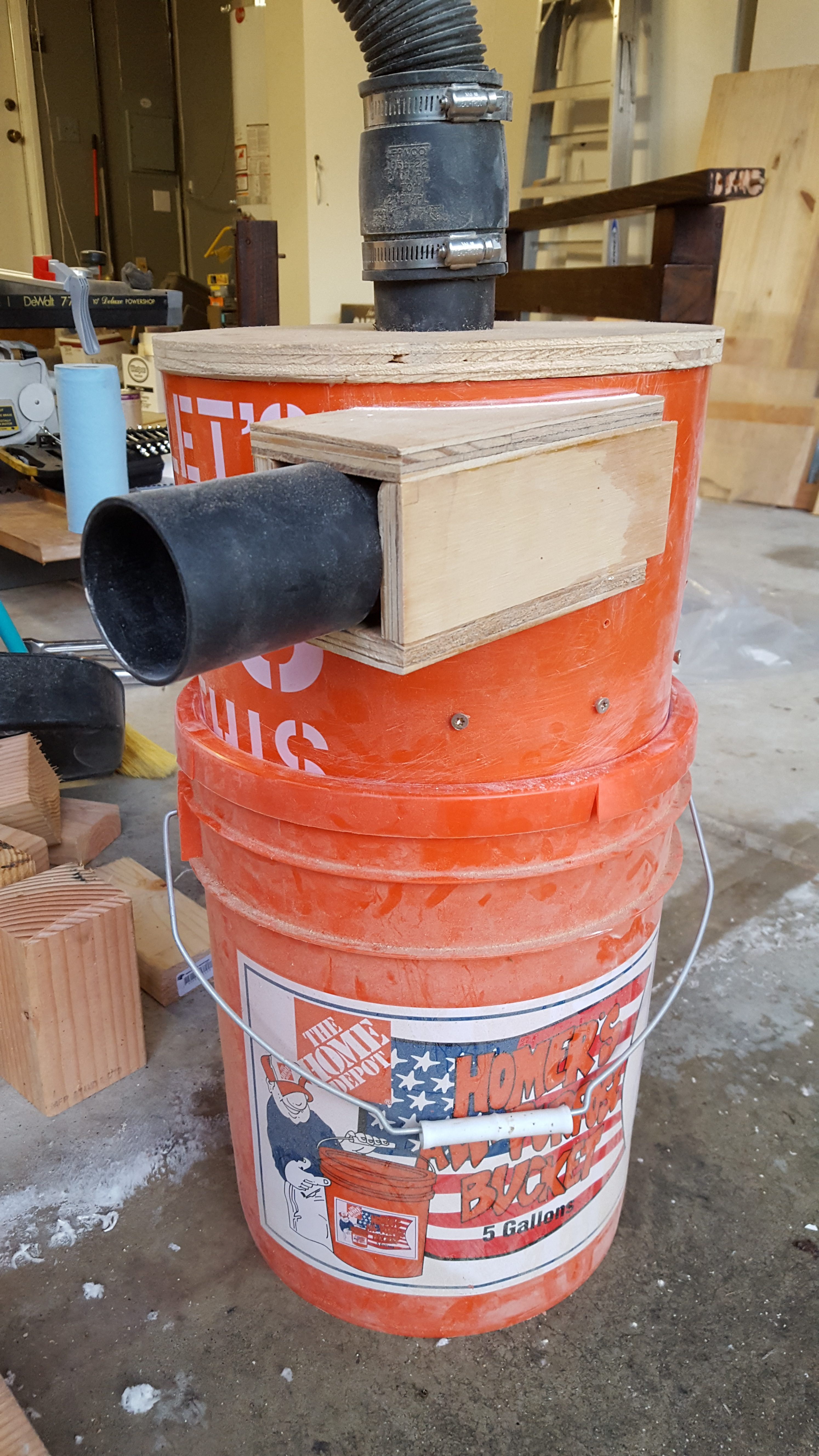5 Gallon Bucket Thien Baffle Dust Collector Next Project